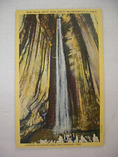 VINTAGE LINEN POSTCARD RUBY FALLS IN LOOKOUT MOUNTAIN CAVE CHATTANOOGA TN UNUSED