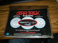 collectible,star trek,blueprints,set of 12,starship enterprise,1975,case,nr
