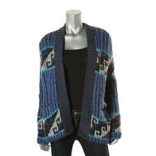 Free People 9368 Womens Blue Knit Long Sleeves Cardigan Sweater Top XS BHFO