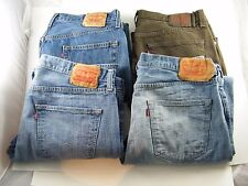 (4) PAIR MEN'S LEVI JEANS ~ UNWORN ~ 36X32 AND 36X30 / BLUE AND BROWN