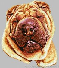 Large Embroidered Zippered Tote - Shar Pei DLE1510