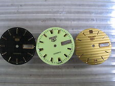3pc SEIKO  7S26 DIAL Automatic: Black Gold Yellow New