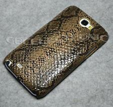 New Brown Snake Skin Leather Hard Case cover for Samsung Galaxy Note2 N7100