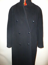 LADIES WOOL AND CASHMERE NAVY FULL LENGTH  COAT BY MODE BERLIN  SZ 12UK 38