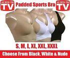 PADDED Womens Ladies Seamless Bra Leisure Crop Top Vest Sport Bra Comfort Comfy