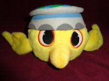"Angry Birds Rio Nico 2011 Yellow 4x6"" stuffed plush wearing hat"