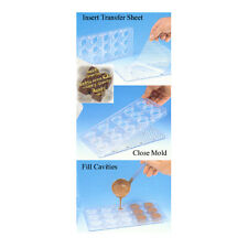 "Magnetic Polycarbonate Chocolate Mold 2 pc. Indented Square 1.25"" x 1.25"" x 0.5"""