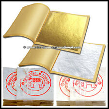 100 Gold Leaves & 100 Silver Leaf - EDIBLE - Food Grade - 99.9% pure - 24 Carat