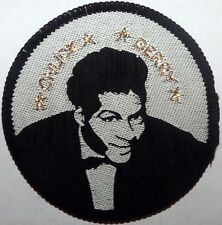 CHUCK BERRY round  SEW ON WOVEN  PATCH