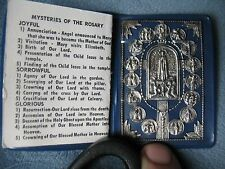 Vintage Catholic Pocket Stations of the Cross Mysteries of the Rosary Prayer