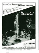 Publicité Ancienne Advertising Le Jet d'eau MIRABELLA 1959  (P33)