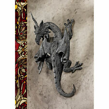 MEDIEVAL GOTHIC CLIMBING HEALING POWER DRAGON SCULPTURE HOME DECOR NEW