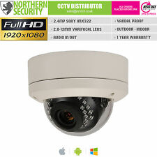 SONY IMX 2MP 2.8-12mm 1080P ONVIF P2P 10M Audio MINI Dome IP Network Camera CCTV