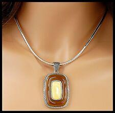 "Lia Sophia TRISH Omega 17"" Necklace WITH Carmello Slide Pendant - NEW"