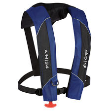 New Onyx A/M 24 Automatic/Manual Inflatable Life Jacket Lifevest (PFD) -Blu