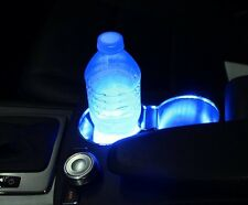 2x Cup Holder BLUE 3-SMD LED Strip Lights Glove Box Footwell Under Dash