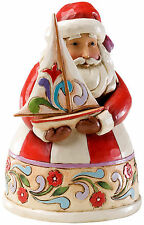 Jim Shore, Heartwood Creek, Weihnachtsmann Nikolaus klein mit Segelboot, 4022912