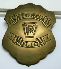 Collectible Brass Badge    Railroad Police    Pennsylvania RR    Shield Style
