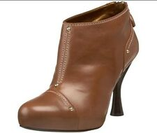 $895 NEW BOX BALLY Womens US 10 EUR 40.5 Ankle Brown Leather Boots Booties Shoes