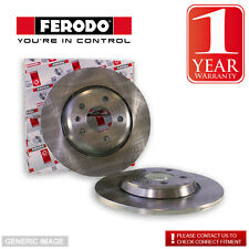 Ferodo Rear Brake Discs Coated Pair Fit TRW System For Mitsubishi Colt Z32A 1.1