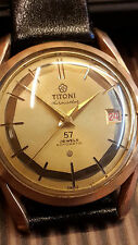 TITONI AIRMASTER 57 JEWELS ROTOMATIC SWISS VINTAGE WATCH ' CYBER MONDAY '