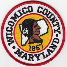 WICOMICO COUNTY MARYLAND SHERIFF POLICE PATCH MD (INDIAN)