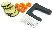 NORPRO 5123 Stainless Steel Vegetable Wedger Slicer Crinkle Cutter