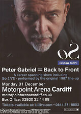 Event Promo Flyer: Peter Gabriel - Back To Front (Motorpoint, Cardiff, 2014) (2)