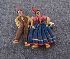 ANTIQUE HAND EMBROIDERY COUPLE PIN