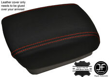 RED STITCHING ARMREST LID LEATHER COVER FITS KIA CARENS MK3 2006-2012