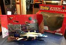 Vintage DINKY DIE CAST TOYS 363 Zygon Patroller Missiles & Cut out Space Station
