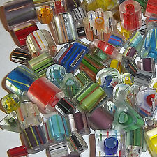 1/2 lb Lot Furnace Cane Glass,Assorted Shapes/Sizes 8oz, 4- 25 mm(250-300 beads)