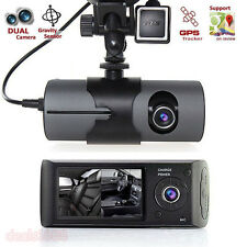 "2.7"" Car DVR Camera Vehicle Video Recorder Dash Cam G-Sensor GPS Dual Len Camera"