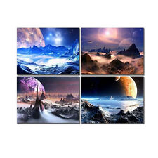 Framed Picture Painting Canvas Print Wall Art Home Decor Fancy Space Universe