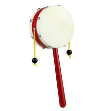 Wooden Rattle Pellet Drum Percussion Musical Instrument Toy for Child Kids Gift