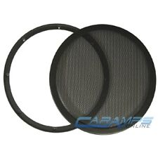 "NEW XSCORPION CAR STEREO 12"" METAL MESH SUBWOOFER GRILLE COVER GUARD W/ CLAMPS"