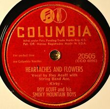 Roy Acuff Heartaches and Flowers 78 NM NOS When They Take the Last Look at Me