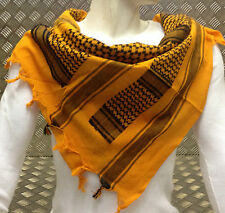 100% Cotton Shemagh / Arab Scarf / Pashmina / Wrap / Sarong. Orange & Black NEW