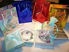 50 European Beads Charm Bracelet Gift Box & Bag Lot Set Nice Gift