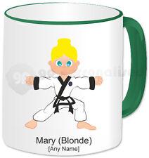 Personalised Martial Arts Mug- Tang Soo Do Girl- Green Handle