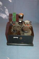 Detektorempfänger Retro Röhre KC1  mit der  Röhre ist es ca.19x19x20 cm
