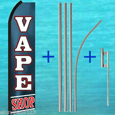 VAPE SHOP SWOOPER FLAG + POLE KIT Vapor e-Cig Cigarette Flutter Feather Banner
