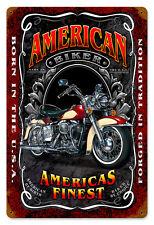 Biker Chopper Motorrad American Tradition Harley Sign Blechschild Schild Groß