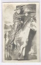 Studio Cowboy posed photo  RPPC #13