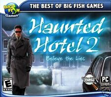 BIG FISH GAMES: HAUNTED HOTEL 2   BELIEVE THE LIES BRAND NEW RETAIL.SHIPS FREE!!