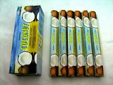 DARSHAN INCENSE STICKS 6 HEXAGONALS BOXES =120 STICKS COCONUT SCENT