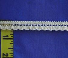 "1/2"" White Beading Lace Cotton Cluny Lace Scalloped Edging Trim Gimp 5 yds #W192"