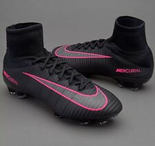NIB $300 NIKE MERCURIAL SUPERFLY V FG SOCCER CLEAT BLACK PINK 831940 006 Size 12