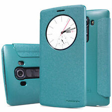 Nillkin Sparkle Series Quick Circle Side Flip Faux Leather Case for LG G4 - Blue