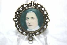 Custom Bronze Rosary Center Part/Color/Rosary Making/St. Therese of Lisieux #2